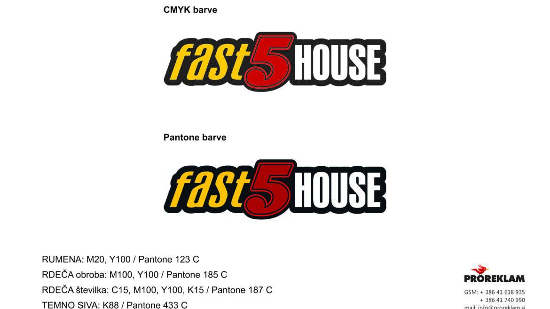 Fast 5 house – izdelava logotipa